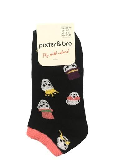 Pixter&Bro 3'lü Çorap Siyah